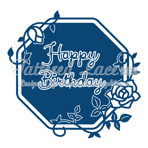 Tattered Lace Die Happy Birthday Starlight Plaque - D591